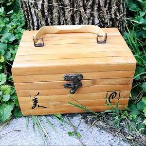 Bamboo Geisha Make-up Box Purse - Vintage